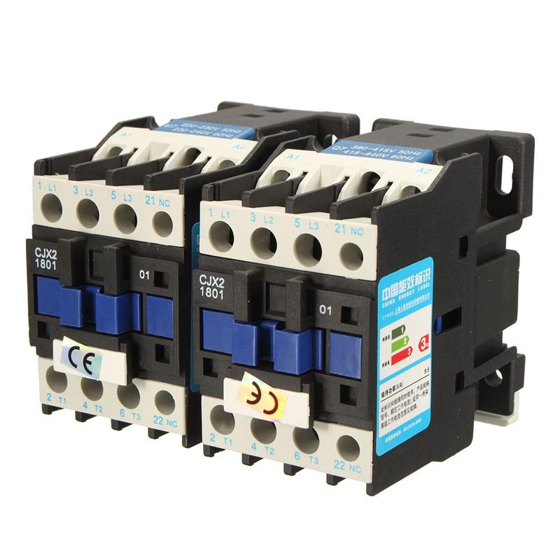 CJX2-1801 AC 220V 18A Contactor Motor Starter Relay 3P+NC IEC COIL 4KW eleoption 18v 2000mah li ion 2 0ah lithium ion battery power tool battery for makita bl1815 battery 18v 194205 3 194309 1