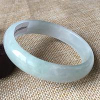 57*51mm Certified (Grade A)100% Natural Lavender stoneite Bracelet Bangle 13153