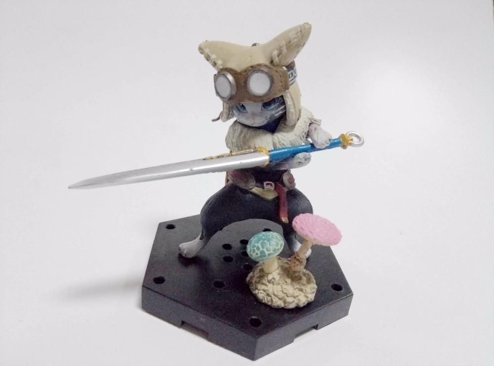 Monster Hunter 4G Diary Comrade Otomoairu Felyne Regiosu Cat Figure Japanese 8 CM PVC Figurine Action Figure Doll
