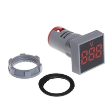 OOTDTY 22MM AC 12-500V Voltmeter Square Panel LED Digital Voltage Meter Indicator Light