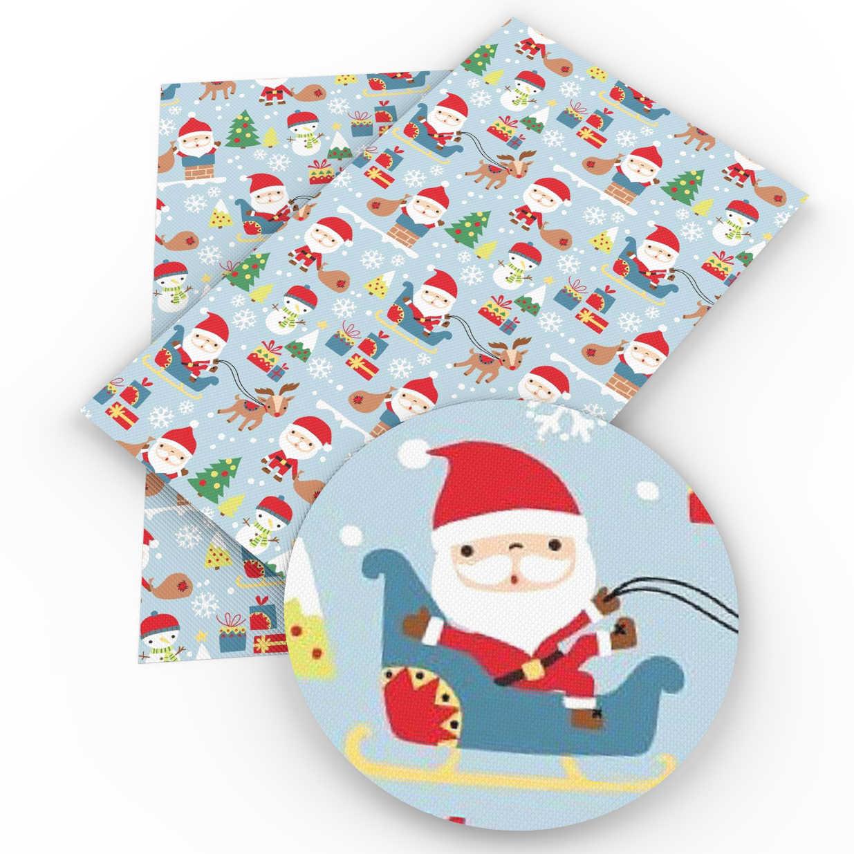 David phụ kiện 20*34 cm Giáng Sinh Santa Faux Nhân Tạo Da Tổng Hợp DIY May Vải cho May Knotbow Túi Xách, 1Yc4848