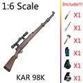 "1:6 1/6 12"" Action Figures Weapon Gun KAR 98K Sinper Rifle Gun Model Deluxe VER"