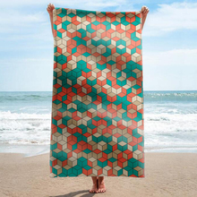 GNORRIS Sand Free Microfiber Mandala Plaid rectangle Beach Towel Blanket - Quick Dry Super Water Absorbent Yoga mat