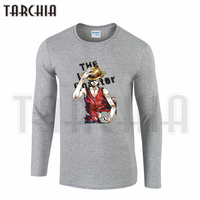 TARCHIIA One Piece Monkey D Luffy Trafalgar D Water Law Colorful Men's Long Sleeve Fahion T-Shirt Cotton O-neck Plus Size