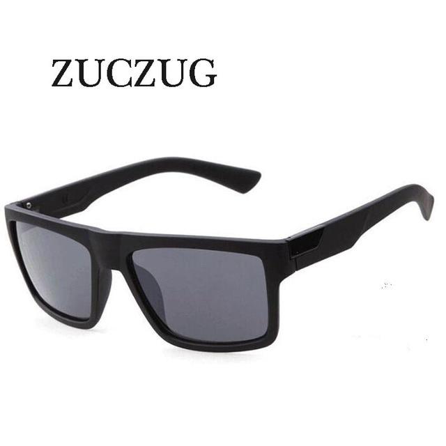 a67a52e71559aa ZUCZUG Rétro Carré lunettes de Soleil Hommes Femmes Marque Designer  Revêtement Réfléchissant Lunettes de Soleil Lunettes