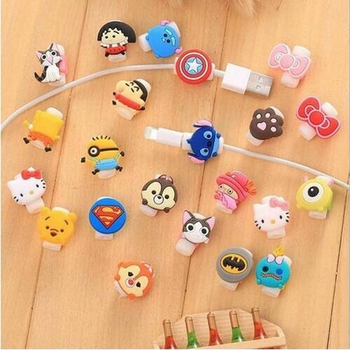 10pcs/lot Bow Earphone Charger Wire Cable Protector Cover Charging Line Data Cable Protection Sleeve Cable Winder For iPhone image