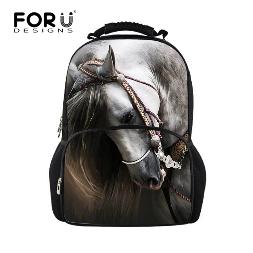 FORUDESIGNS horse backpacks for teens school bag, school ...