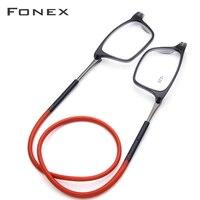 Модернизированные очки для чтения мужские и женские регулируемые Висячие магнитные квадратные пресбиопические очки + 1,00 + 1,50 + 2,00 + 3,00