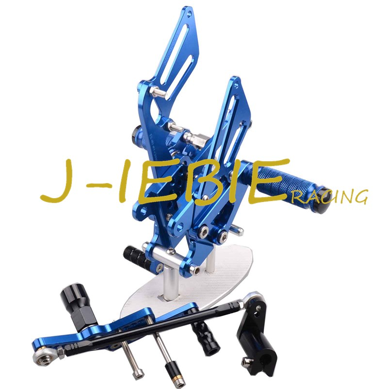 CNC Racing Rearset Adjustable Rear Sets Foot pegs Fit For Honda CBR1000RR 2008-2015 BLUE titanium cnc aluminum racing adjustable rearset foot pegs rear sets for yamaha mt 07 fz 07 mt07 fz07 2013 2014 2015 2016
