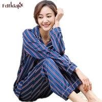 2017 Summer New Womens Silk Satin Pajamas Sets Casual Sleepwear Long Sleeve Nightgowns M L XL
