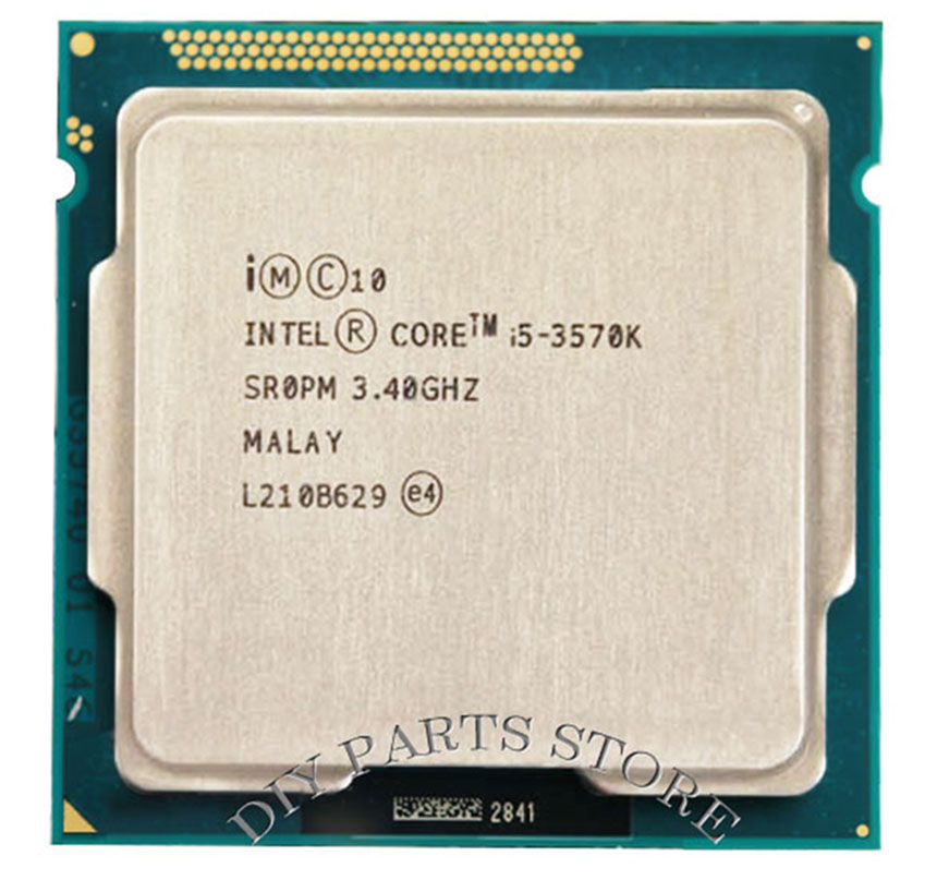 Intel Core i5 3570k i5 -3570k 3.4GHz/ 6MB Socket <font><b>1155</b></font> CPU Processor HD 4000 Supported memory image