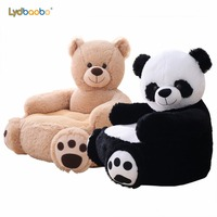 50cm Soft Stuffed Baby Seat Plush Toy Bear&Panda Infant Back Support Learning Sit Safety Baby Sofa Feeding Chair Seat Kid Gift