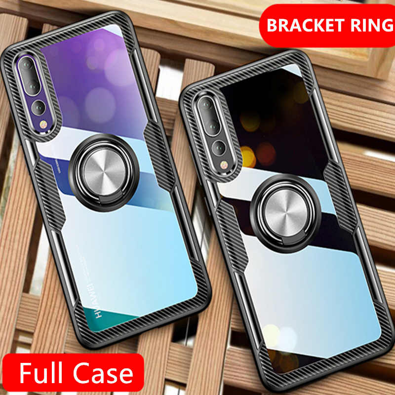 Luxury Ring Shockproof Soft Phone Case On The For Huawei P20 Pro P20 Silicone Cover For Huawei P20 Lite Transparent Back Case
