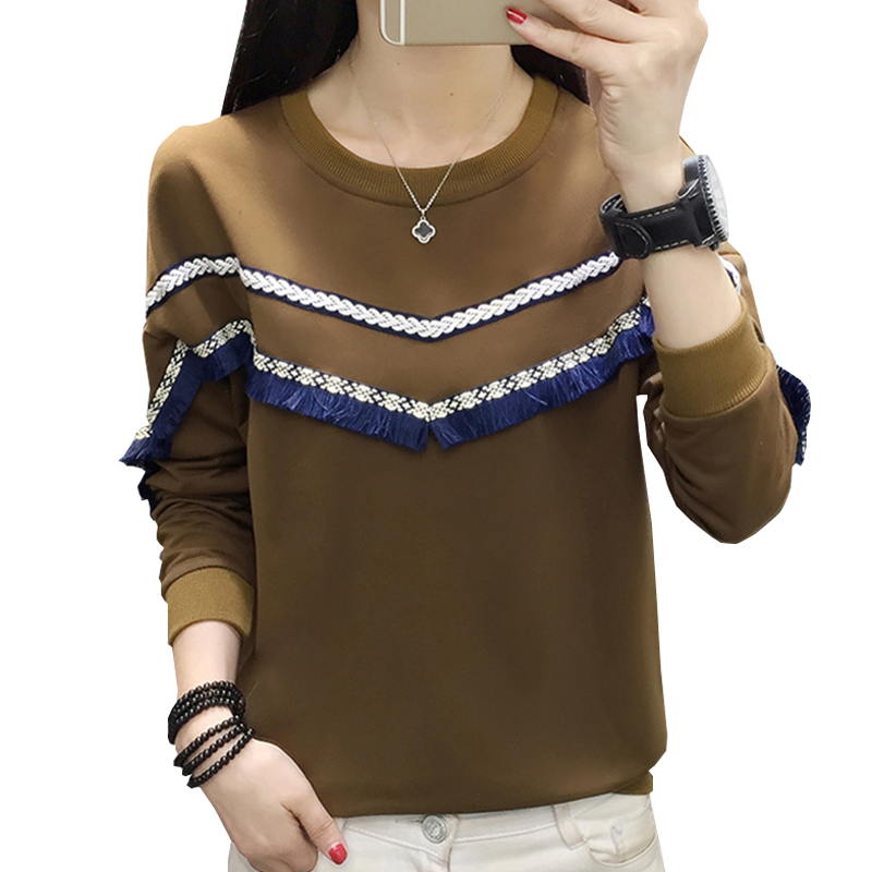 shintimes Tassel Women Sweatshirt Patchwork Batwing Sleeve Plus Size Woman Sudaderas Mujer 2019 Casual Womens Hoodie Sweat Femme
