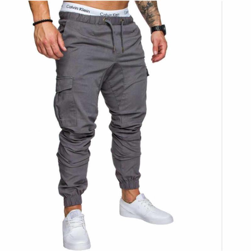 Осенние повседневные штаны в стиле хип-хоп 2019 мужские брюки для бега однотонные многокарманные брюки городские тактические брюки карго