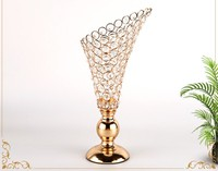 crystal candlestick flowers candle centerpieces gold candlestick for candles retro wedding Candlebra candle stand holder decor