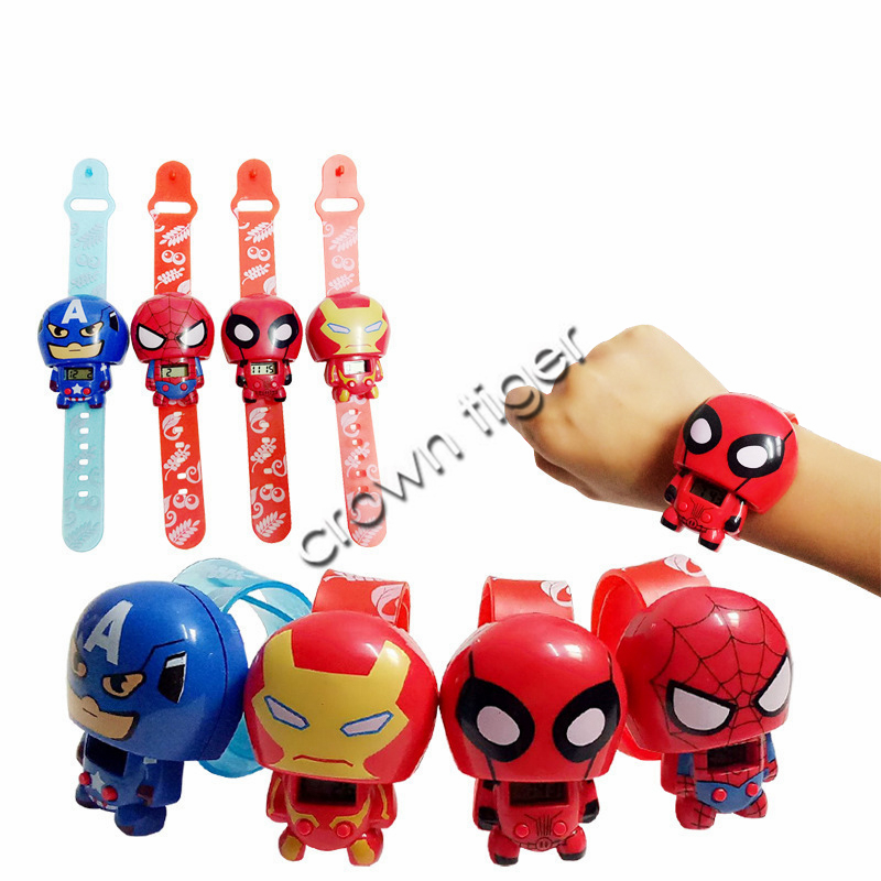 2019 New Hot Avengers Spiderman Ironman Kids Boy Girls Electric Watch Super Hero Hulk Action Figure Model Gift Toys For Children