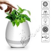 Creative Smart Wireless LED Bluetooth Speaker Music Plant Flower Touch Sensing Pots Waterproof Pink Blue White