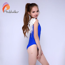 Andzhelika 새 Children's 수영복 한 Piece Swimsuit 흰 Wings biquini infantil Beach 바디수트 Bathing 한 벌 모노 키니가 AK87183(China)