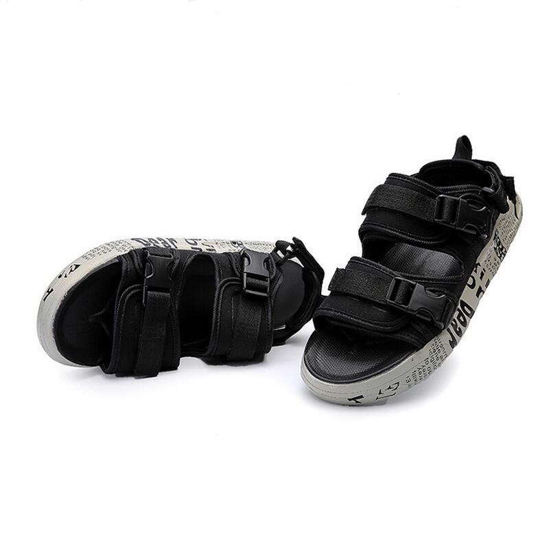 2017 Hot Sale Summer Classic Men Outdoor Casual Flats Sandals Fashion Summer Beach Shoes Cheap Buckle Strap Non-slip Slippers 5