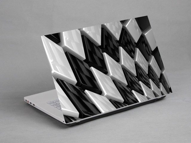 Zwart wit strepen vinyl behang zwart wit behang