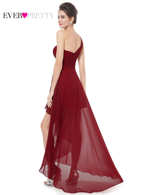 Evening Dresses Ever-Pretty EP08100 Sexy One Shoulder Chiffon Fashion Hi-low 2017 Fashion Vestidos Evening Dresses