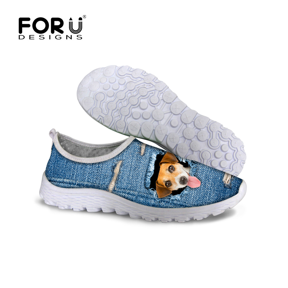 Jeans Cat Design font b Women b font Shoes Breathable Casual Mesh font b Women b