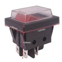 2 шт. Красный кнопочный кулисный переключатель 4 вилки 37*30*30 мм 16A 250 В AC/20A 125 В AC электрооборудование переключатели