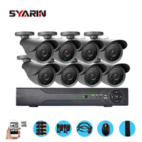 TEATE Home Safety 8CH Full 1080P DVR 2000TVL 1080P 2 0MP Outdoor Security Surveillance Camera Kit