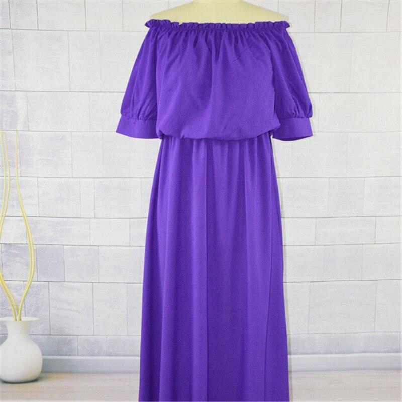 Mode Mutter Tochter Kleider Sommer eltern-kind-Kleid Frauen Baby Mädchen Reine Farbe Puff Sleeve Kleid Familie Passenden Kleidung
