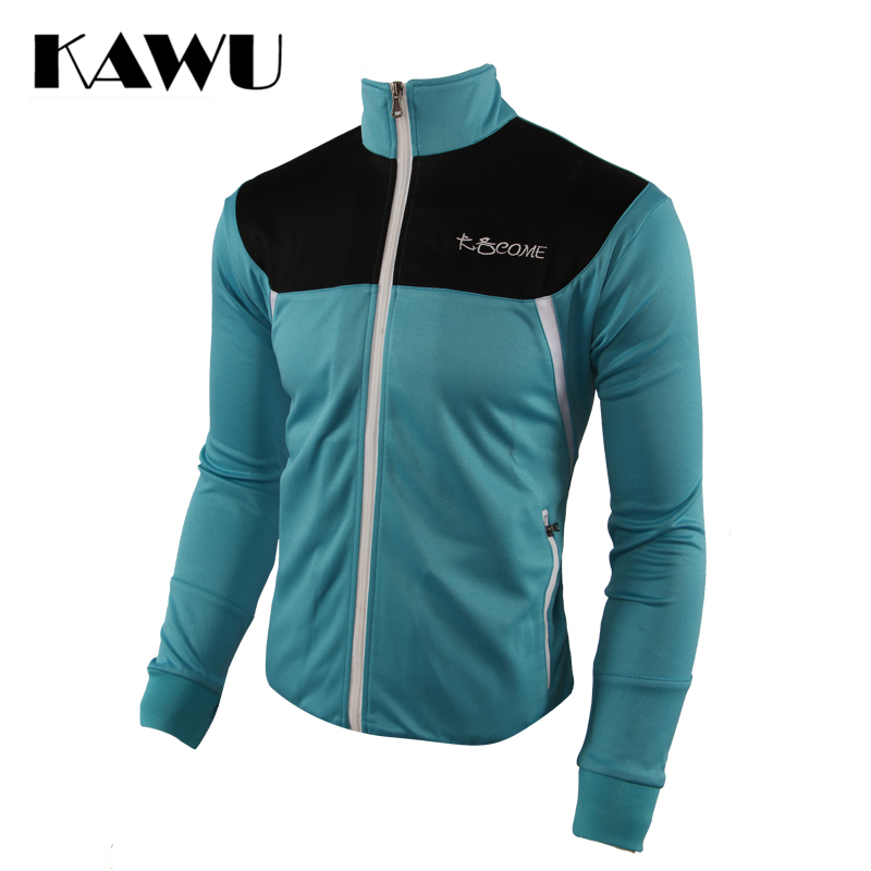 KAWU Men Running Tracksuit Track Suit Stand Collar Sportswear Plus Size 5XL Zipper Long Sleeve Running With Zipper Pocket S17008