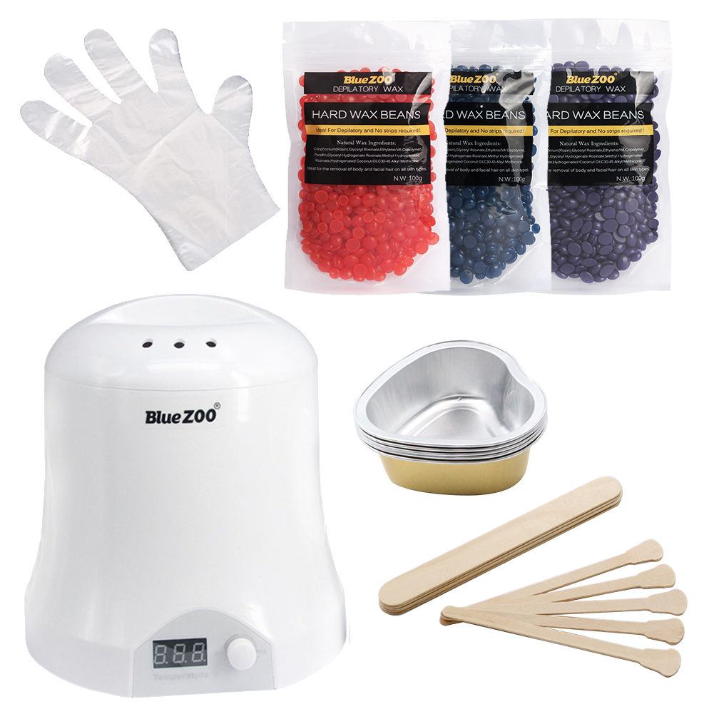 Brazilian Wax Hair Removal Machine Waxing Tools Face And Body Depilatory Pearl Wax Warmer Set With Wooden Sticks Salon Epilation free shipping of professional 75 72 m22 carbide tipped wall hole saw for air condtiional holes opening on brick concrete wall