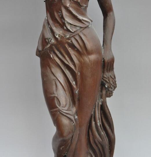 S00310-statue de déesse de 26 pouces   Modèle de la grèce antique, la beauté du Bronze, la déesse des femmes et des filles, Sculpture artistique, livraison gratuite