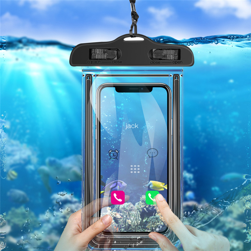 Moskado Universal Waterproof Phone Case For IPhone 11 Pro X XR XS MAX 8 7 6 6s Plus Cover Pouch Bag Cases Luminous Watertight