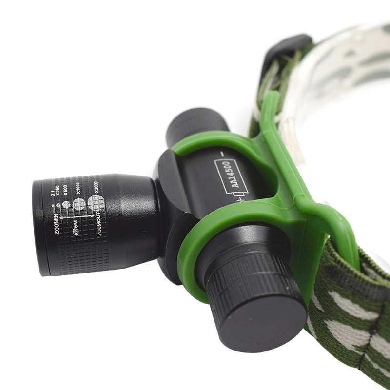 Zoomable Scheinwerfer Q5 LED Kopf Taschenlampe Frontal Taschenlampe 14500 Wasserdichte Scheinwerfer 3 Modi Lampe Frontale für Radfahren Angeln