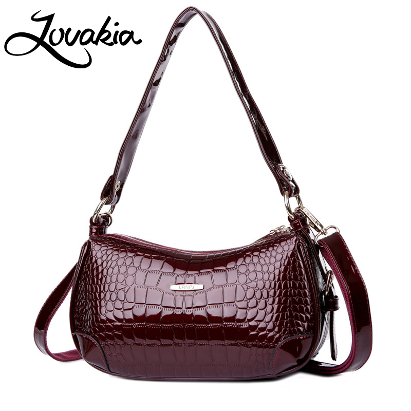 LOVAKIA 2018 New Leather Crocodile Pattern Fashion Handbags Portable Ladies Casual Shoulder Messenger Commuter Bag Women Bag yuanyu 2018 new hot free shipping crocodile women handbag shoulder strap bag leather shoulder bag ladies handbags