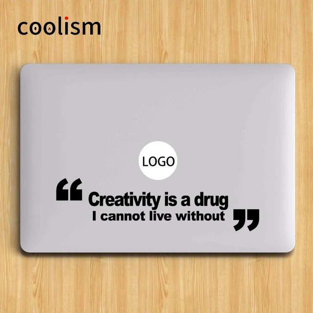 Creativity Quote Laptop Sticker for Apple Macbook Decal Pro Air Retina 11  12 13 15 inch