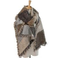 Women's Winter Thick Warm Wool Pashmina Cashmere Stole Scarves Scarf Shawl Wraps