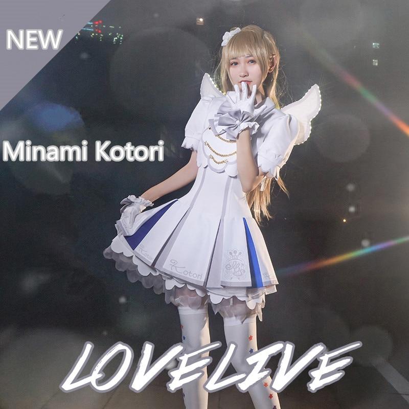 Anime! 2018 New Hot Lovelive Minami Kotori Arcade Game 4 sj Uniform Lolita Dress Cosplay Costume For Halloween Free Shipping