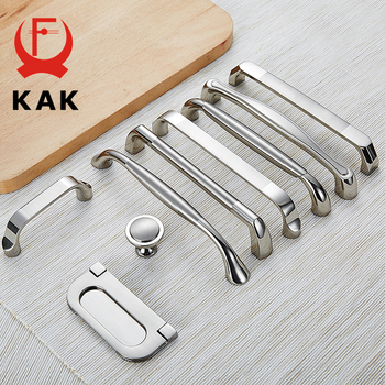 цена на KAK Zinc Alloy Modern Cabinet Handles Kitchen Cupboard Door Pulls Drawer Knobs Handles Wardrobe Pulls Furniture Handle