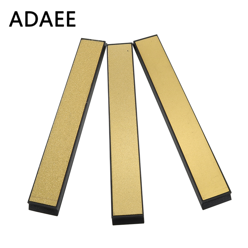 ADAEE 3pcs / set Titanium Diamond Sharpening Stones til køkkenkniv Sharpener Professional Sharpening System 240 # 600 # 1000 #
