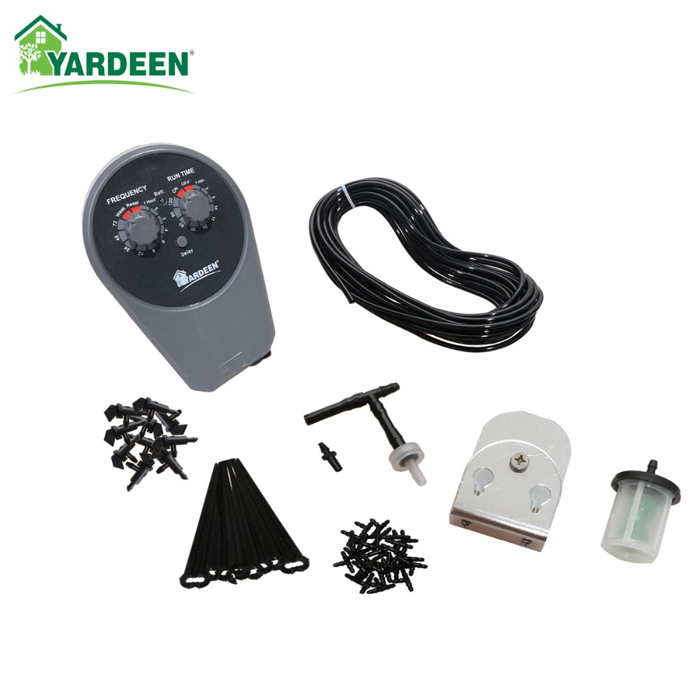 Graden Pump Drip Irrigation System Water Timer Controller Gardening Spray with Adjustable Sprinkler