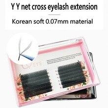 YY shape eyelash extension two lash tips individual net crossed