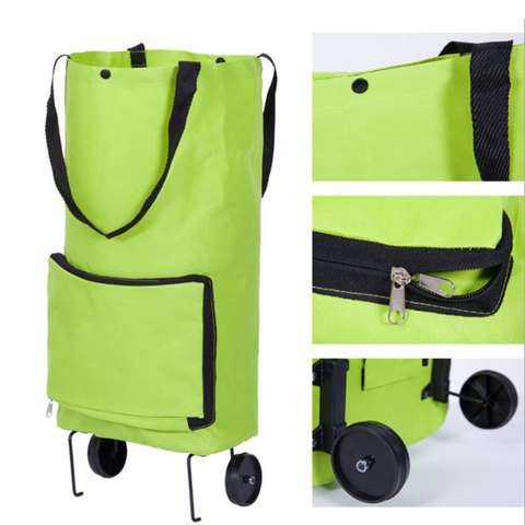 Korean style of the folded shopping cart fashion of the luxury portable  car luggage cart folded tug bag Lahore