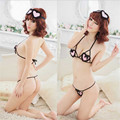 A new explosion woman sexy lingerie set heart-shaped hollow lace AQ99