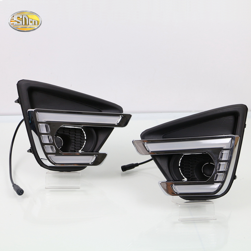 SNCN Daytime Running lights for Mazda CX-5 CX5 2012 2013 2014 2015 2016 LED DRL fog lamp cover driving lights