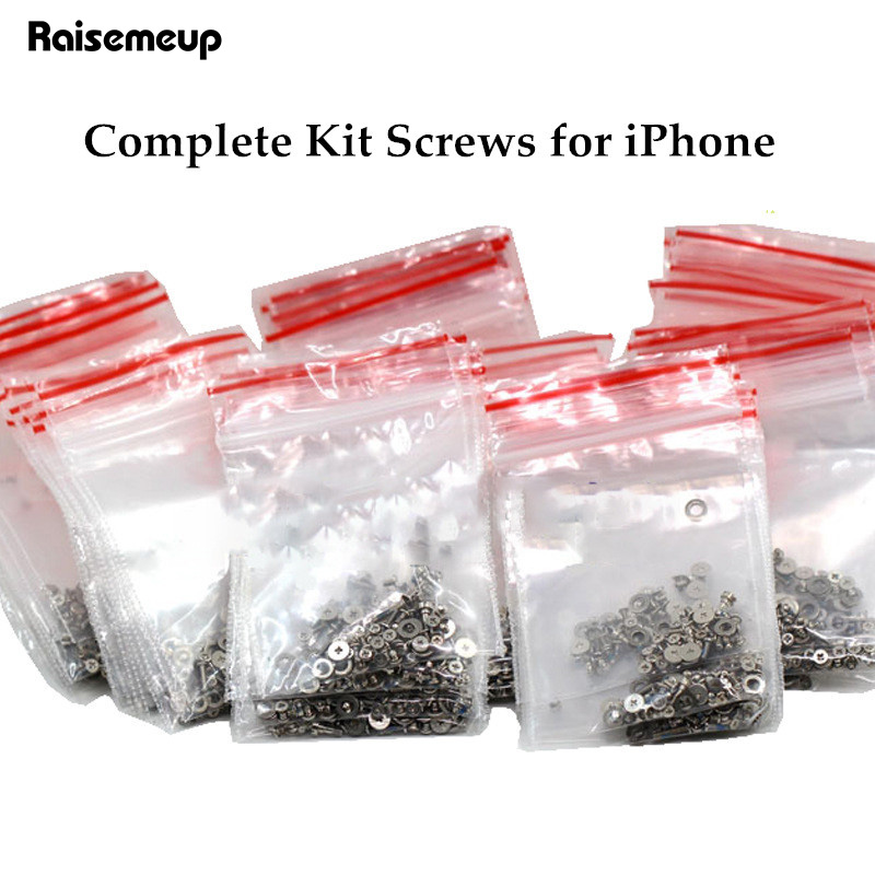 Screws Full Screw Set For IPhone 7 8 6 6s X Plus Repair Bolt Complete Kit Replacement Parts Full Set Screws Phone Accessories