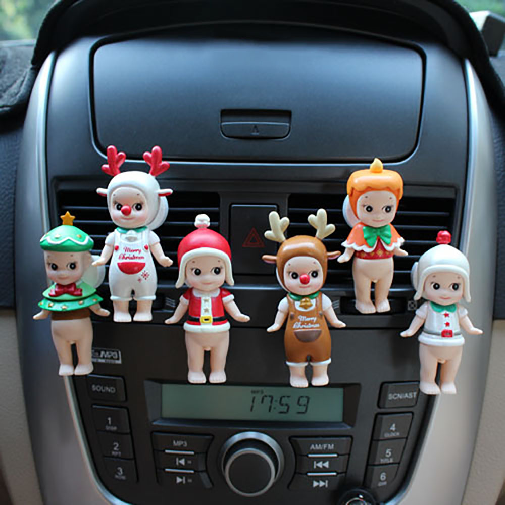 Air Freshener In The Car Cute Decoration Christmas Angel Doll Perfume Clip Auto Outlet Scent Diffuser Aroma Smell Air Purifier