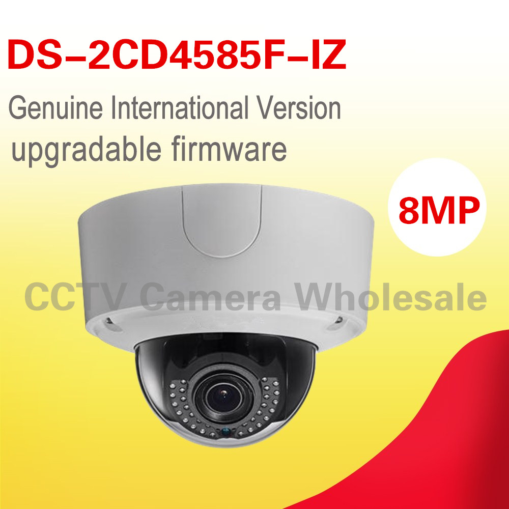 Free shipping English version DS-2CD4585F-IZ 4K Smart dome IP security camera outdoor, POE, VF lens 2.8-12mm,40m IR free shipping english version ds 2cd4132fwd iz 3mp 120db wdr smart ip indoor dome camera support 128g poe