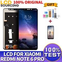 100% ORIGINAL Für Xiaomi Redmi Hinweis 6 Pro LCD Touch Screen Digitizer Montage + Rahmen Für Redmi Hinweis 6 Pro display Ersetzen